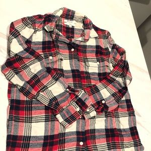 Warm Madewell flannel shirt, size small